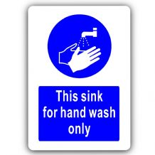 This Sink for Hand Wash Only-Aluminium Metal Sign-150mmx100mm-Notice,Bathroom,Toilet,Health,Hygiene